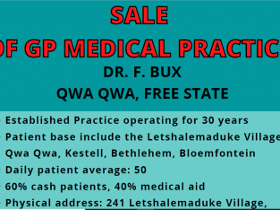 GP Medical Practice For Sale in Qwaqwa