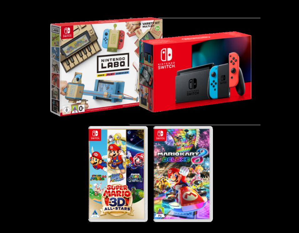 Nintendo Switch, Labo and Super Mario Bundle