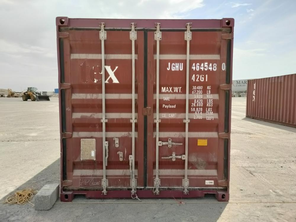 Sea container 20 and 40 feet (6m) supplies