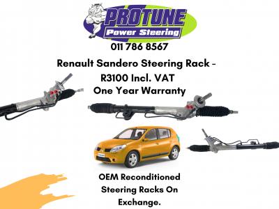 Renault Sandero – OEM Reconditioned Steering Racks